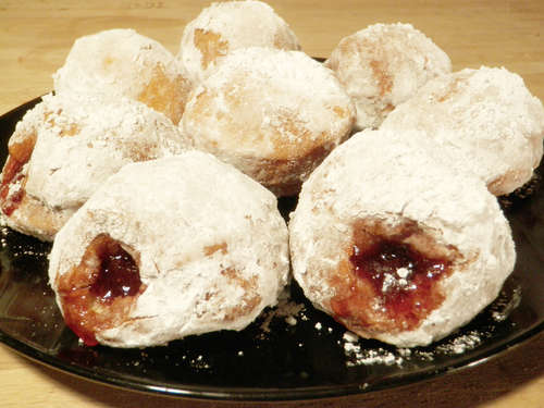 Delicious Jelly Doughnut Cuisine