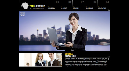 Classic Style Business Website Template