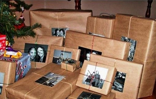 Gift Wrapping Ideas Photos instead of gift tags for presents