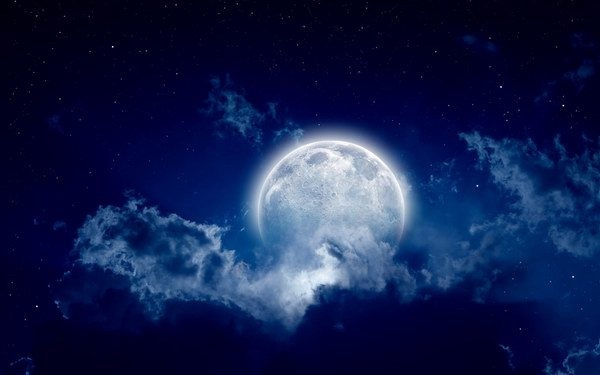Moon in Outer Space